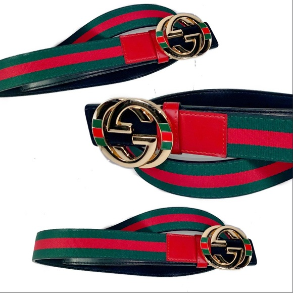 2a2549968 Gucci Accessories | Belt Mens Gold Buckle Iconic Green Red | Poshmark